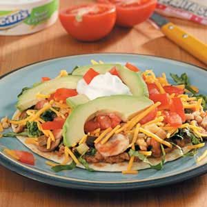 Refried Bean Tostadas Recipe