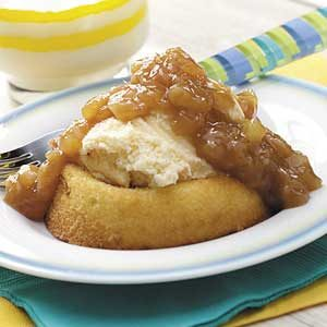 Pineapple-Caramel Sponge Cakes Recipe