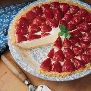 Strawberry Rhubarb Ice Cream Pie Recipe