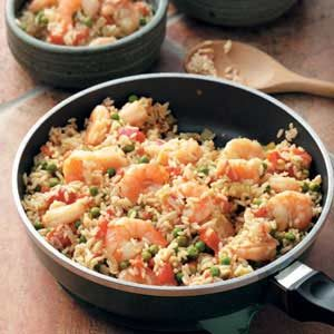 Skillet Shrimp Jambalaya Recipe