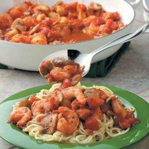 Tomato 'n' Shrimp Pasta Recipe