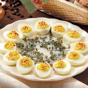 French Onion Deviled Eggs