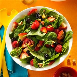 Four-Berry Spinach Salad Recipe