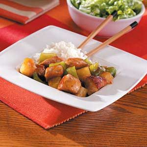 Sweet-and-Sour Garlic Pork Dish Recipe
