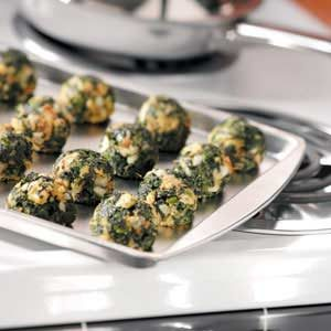 Makeover Garlic Spinach Balls