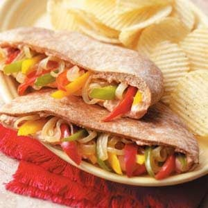 Sweet Pepper Pitas Recipe