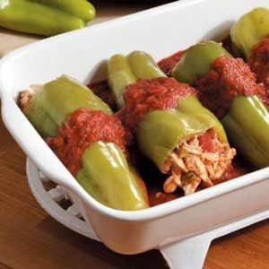 Chicken-Stuffed Cubanelle Peppers