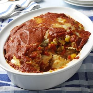Roasted Pepper Ravioli Bake Recipe