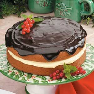 Boston Cream Pie with Chocolate Glaze
