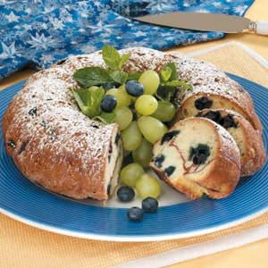 Cinnamon Blueberry Coffee Cake Recipe