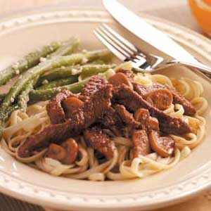 Sirloin in Wine Sauce