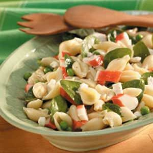 Pea 'n' Crab Pasta Salad Recipe