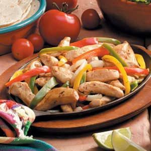 Chicken Veggie Fajitas Recipe