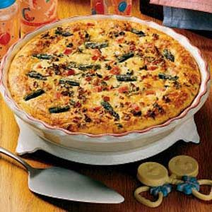 Asparagus Ham Quiche Recipe