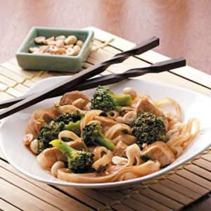 Stir-Fried Chicken and Rice Noodles Recipe