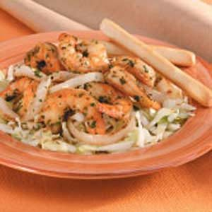 Thai Shrimp and Cabbage