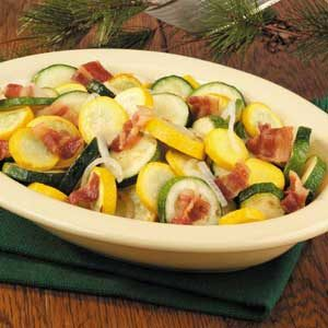 Bacon Squash Saute Recipe