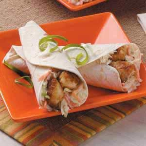 Weeknight Catfish Wraps