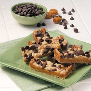 Chocolate Chip Caramel Bars Recipe