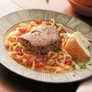 Tuna Steak on Fettuccine Recipe