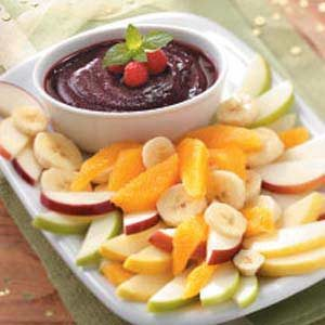 Raspberry Fondue Dip Recipe