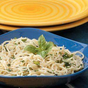 Parmesan Basil Spaghetti Recipe