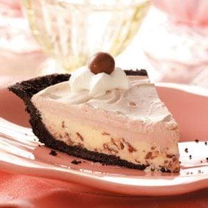 Chocolate Malt Shoppe Pie