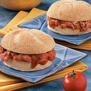 Barbecue Ham Sandwiches Recipe