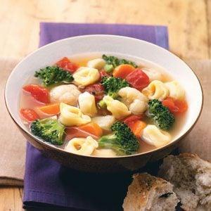 Veggie Tortellini Soup Recipe