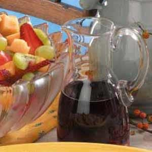 Chilled Red Wine Fruit Dressing Recipe