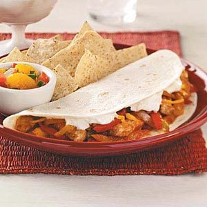Pepper Pork Fajitas Recipe