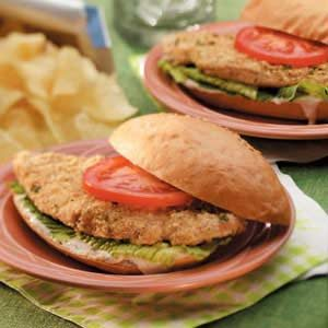 Chicken Caesar Sandwiches Recipe