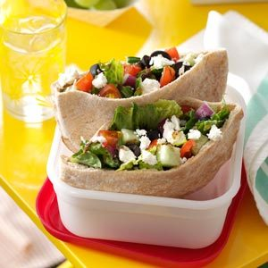 Mediterranean Vegetable Pitas Recipe