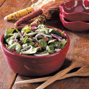 Cranberry Pecan Spinach Salad Recipe