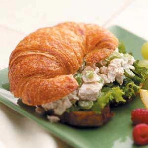 Turkey Salad on Croissants