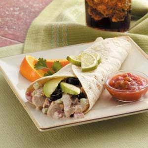 Zippy Chicken Wraps Recipe