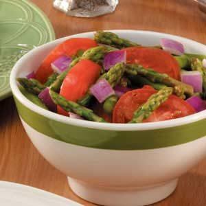 Spring Asparagus Tomato Salad Recipe