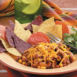 Chili Bean Nacho Skillet Recipe