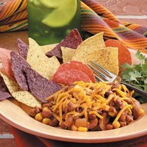 Chili Bean Nacho Skillet Recipe
