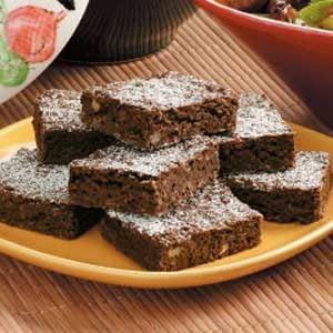 Walnut Oat Brownies Recipe