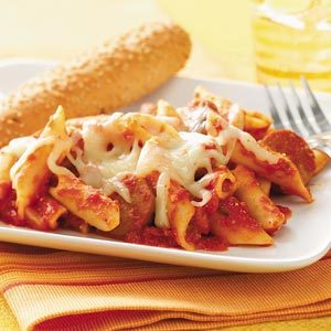 Pasta and Sausage Bake Recipe