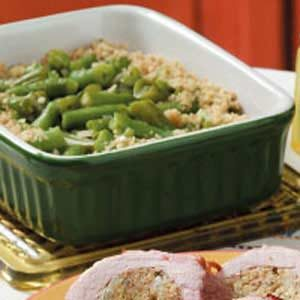 Baked Garlic Green Beans Recipe