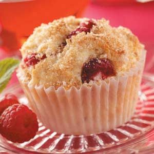 Raspberry Cream Muffins Recipe