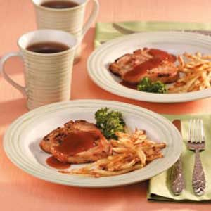 Simple Sweet 'n' Tangy Pork Chops Recipe