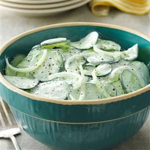 Sour Cream Cucumbers Recipe