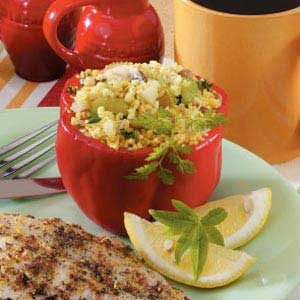 Couscous Pepper Cups Recipe
