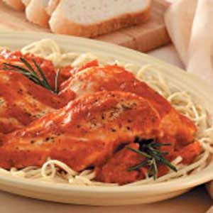 Chicken with Garlic-Tomato Sauce Recipe