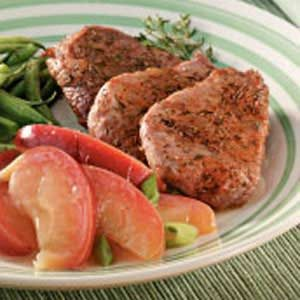 Pork Medallions with Sauteed Apples Recipe | Taste of Home
