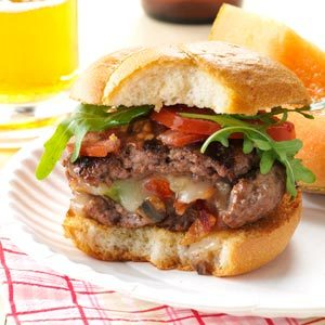 Mushroom-Stuffed Cheeseburgers Recipe