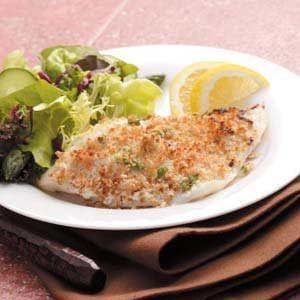 Crumb-Topped Sole Recipe